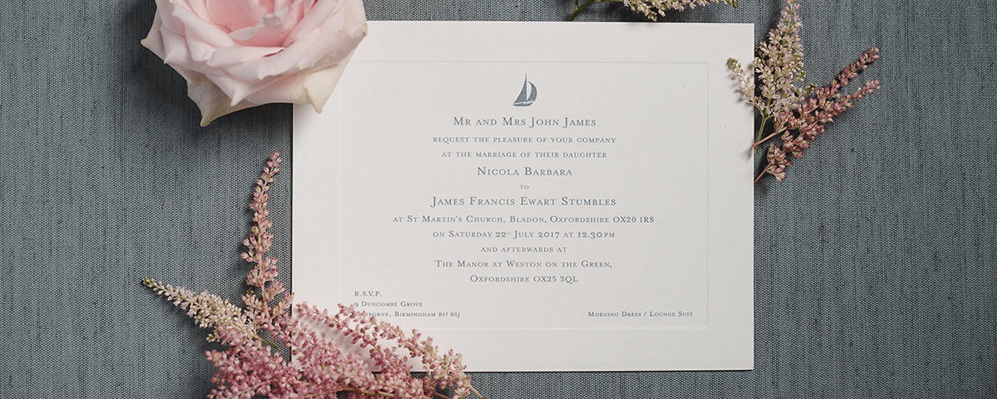 Elegant Wedding Stationery and Invitations UK | GeeBrothers.co.uk