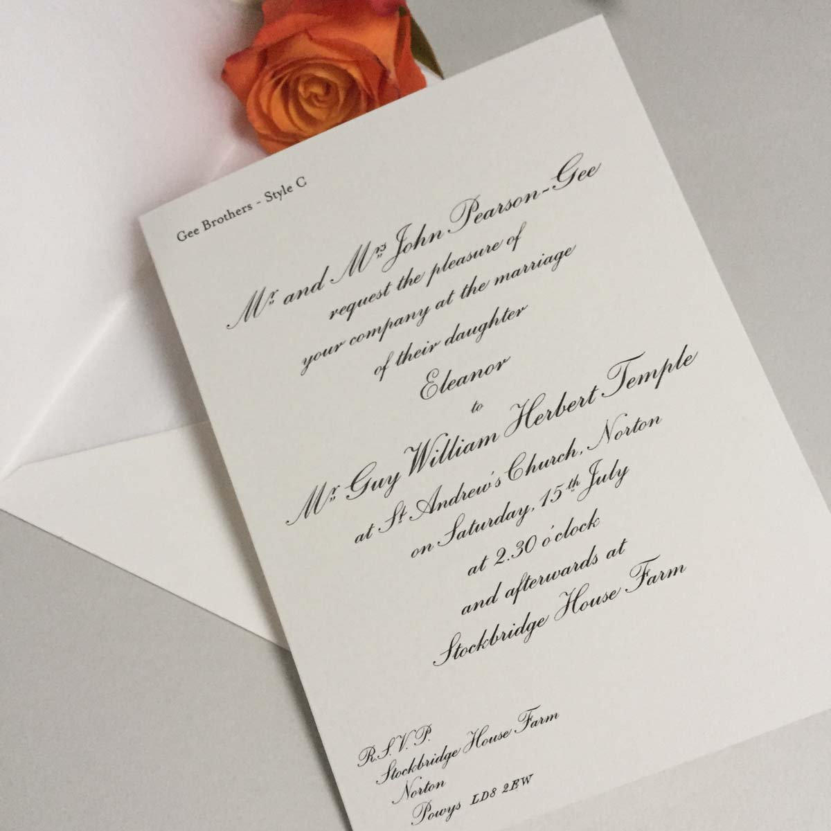 Wilberforce Wedding Invitations