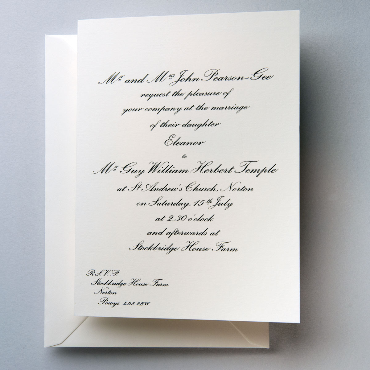 Wilberforce Traditional Wedding Invitations