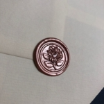 English Rose wax seal in rose gold