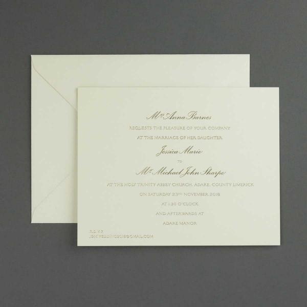 Barnes Gold Wedding Invitations