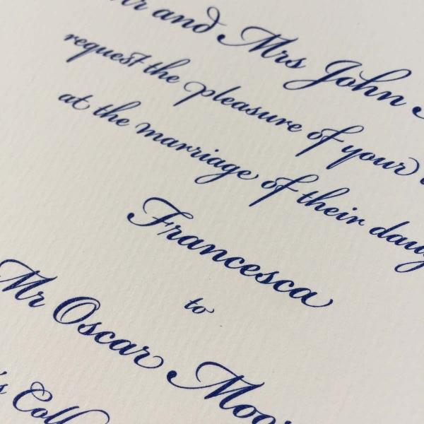Bickham Blue Wedding Invitations
