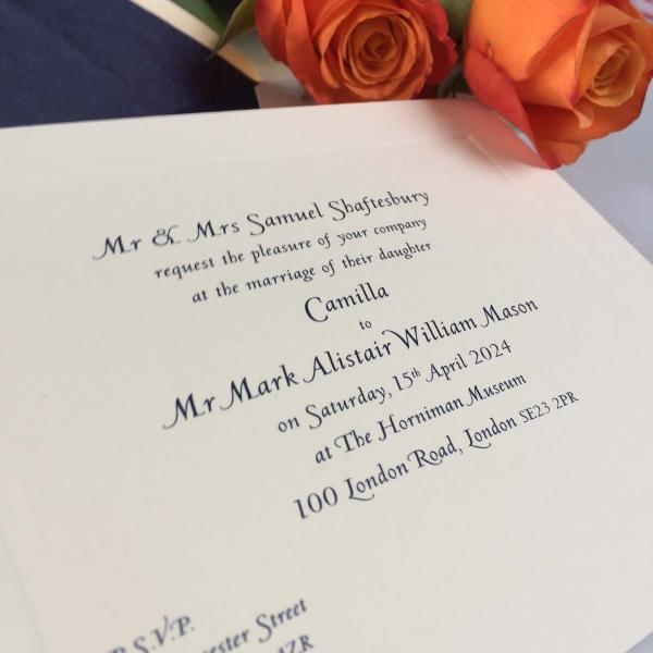 Camilla Wedding Invitations