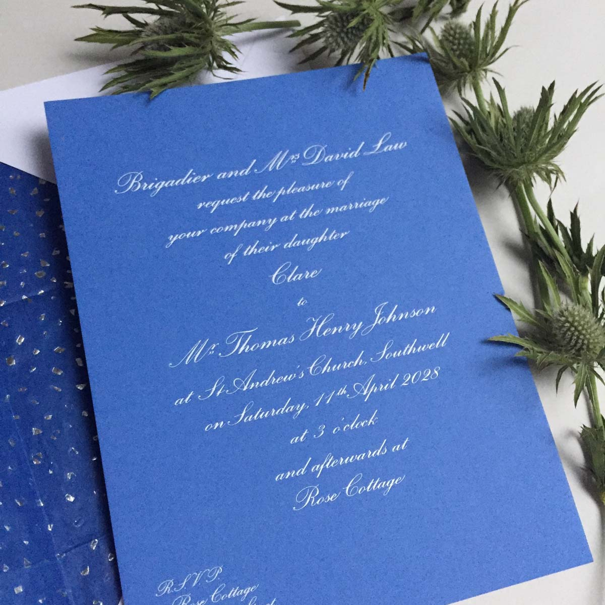 Cobalt Wedding Invitations