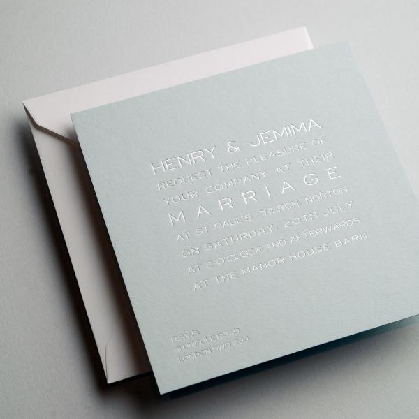 Cool Blue Wedding Invitation