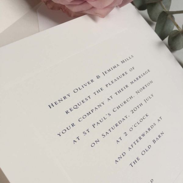 Gee Square Wedding Invitations