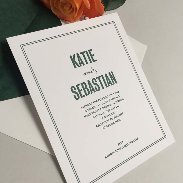 Katie Green Wedding Invitations