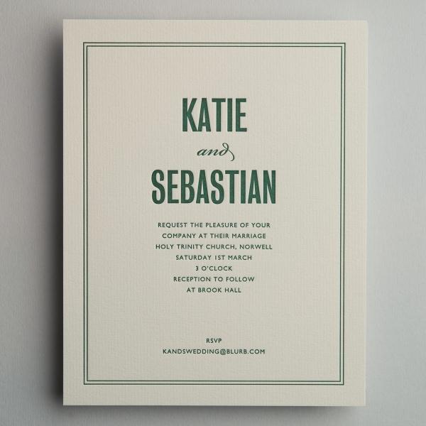 Katie Green Wedding Invitations
