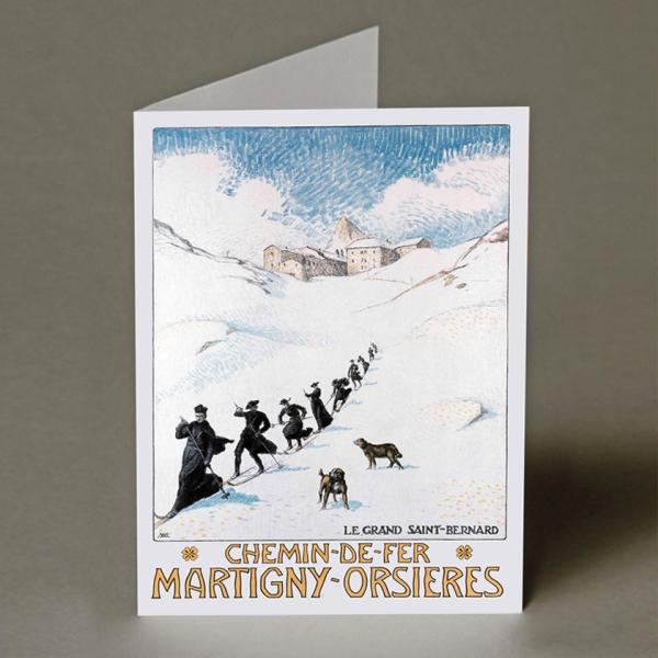LE GRAND ST BERNARD Christmas Card
