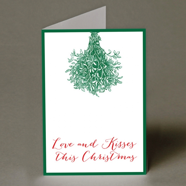 Love and Kisses Christmas Card