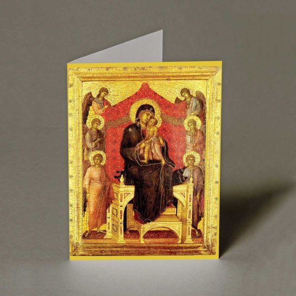 Madonna and Child with Angels Christmas Cards