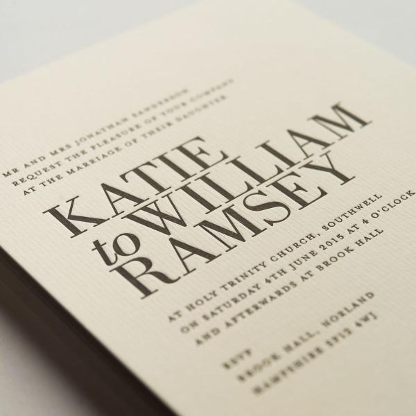 Ramsey Wedding Invitations