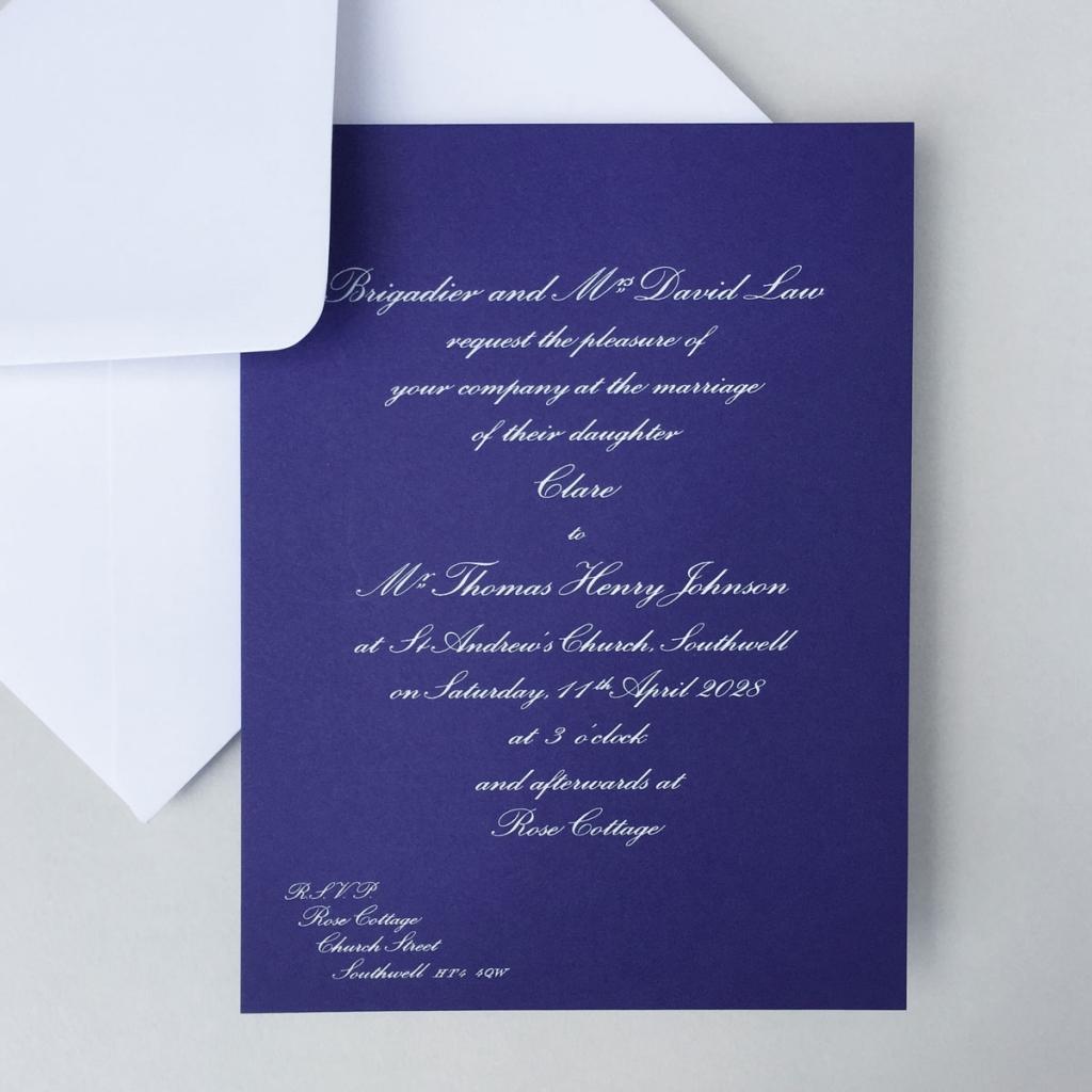 Royal Blue Wedding Invitations - Wedding Stationery | Wedding ...