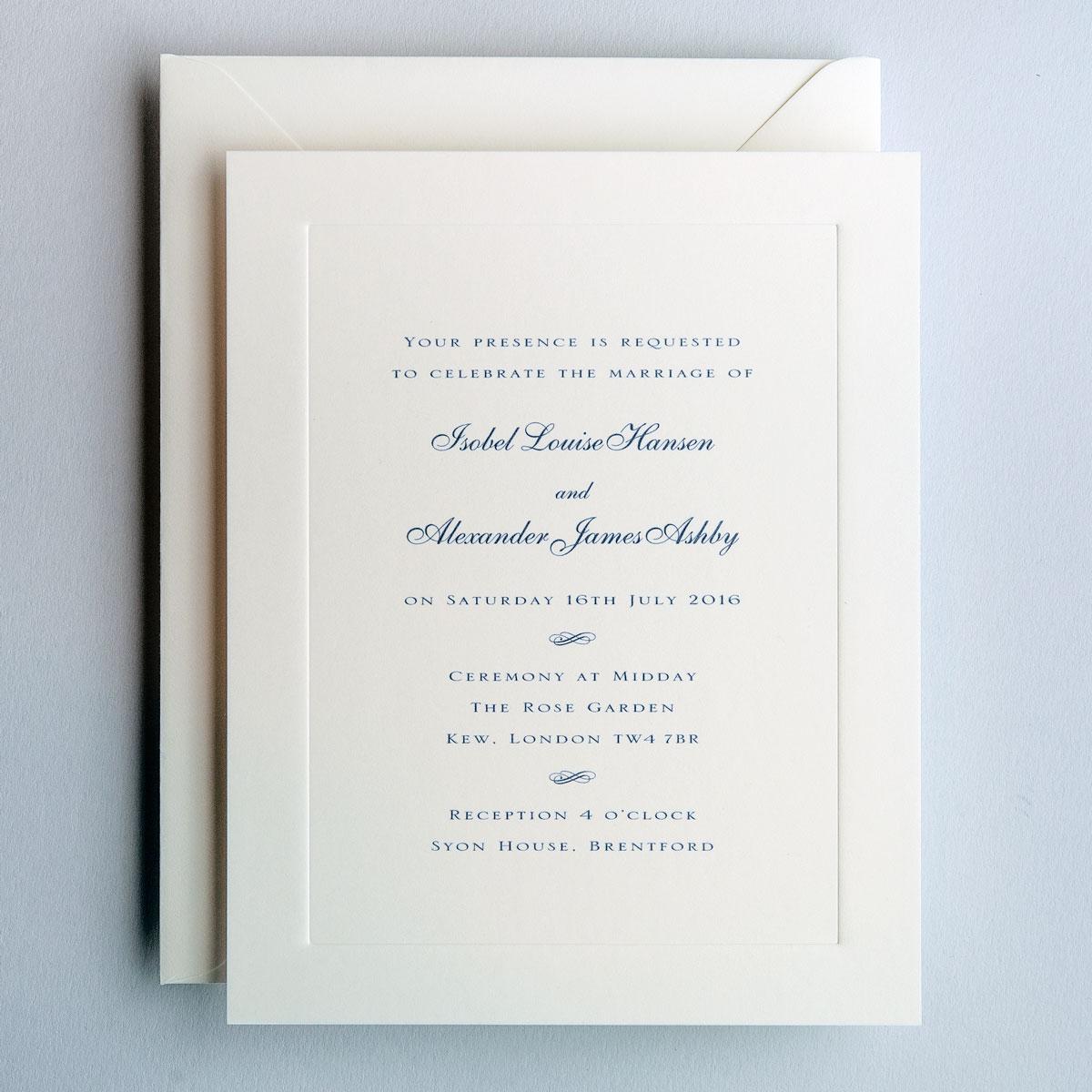 royal wedding invitation sle - 28 images - royal blue wedding ...