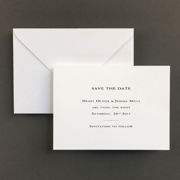 Racing Green Save The Date Cards - Wedding Stationery