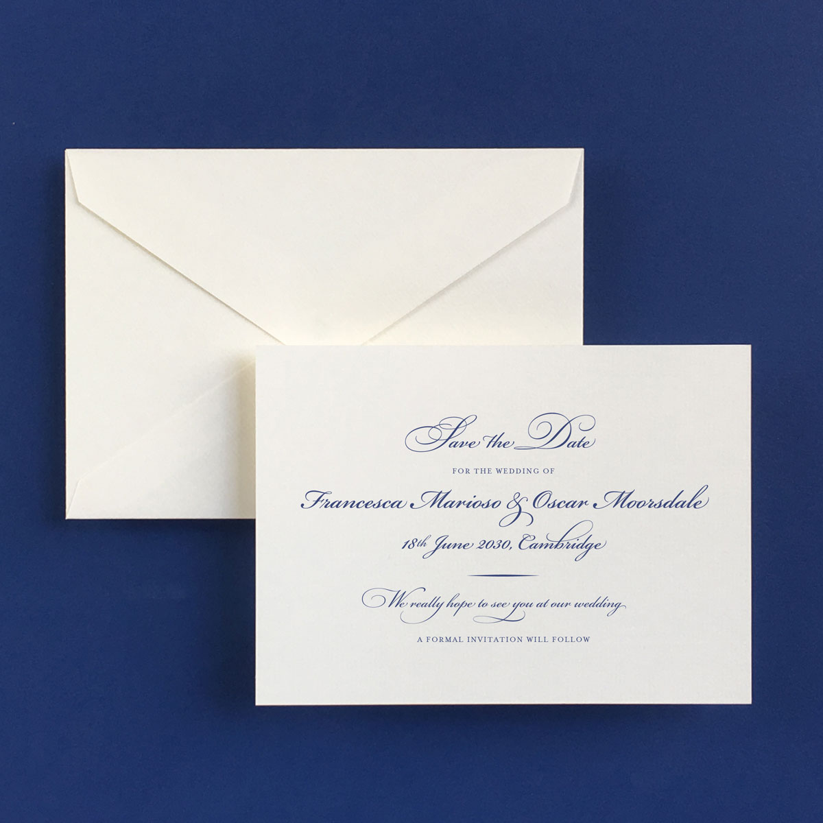 Bickham Blue Save The Date Cards - Wedding Stationery