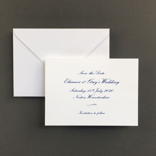 Cobalt Save The Date Cards - Wedding Stationery