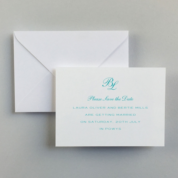 Turquoise Save the Date Cards - Wedding Stationery