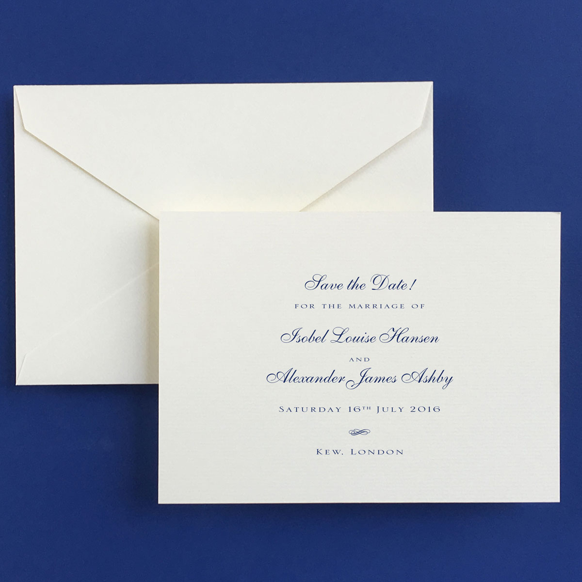 Royal Save the Date Cards - Wedding Stationery