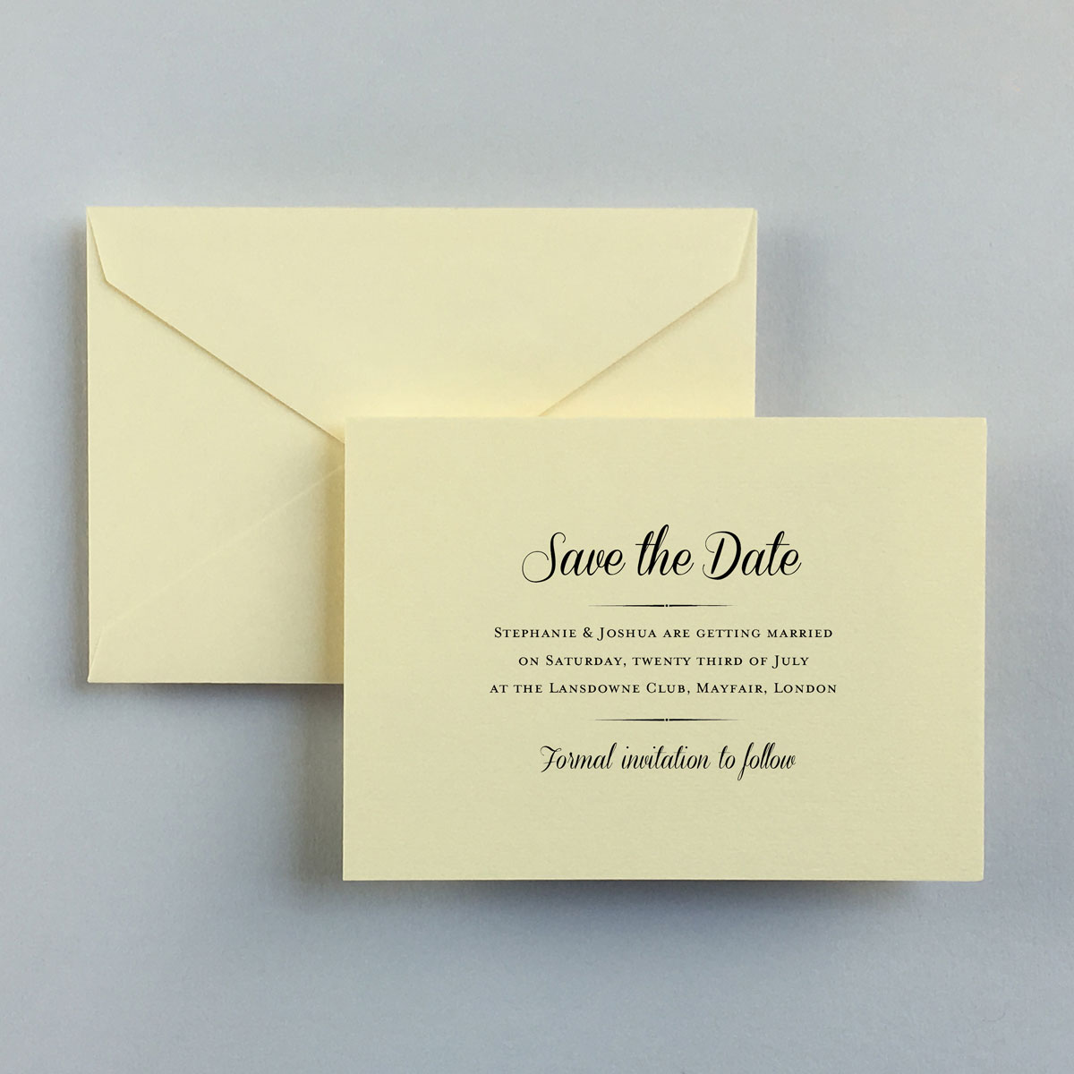Stephanie Save the Date Cards - Wedding Stationery