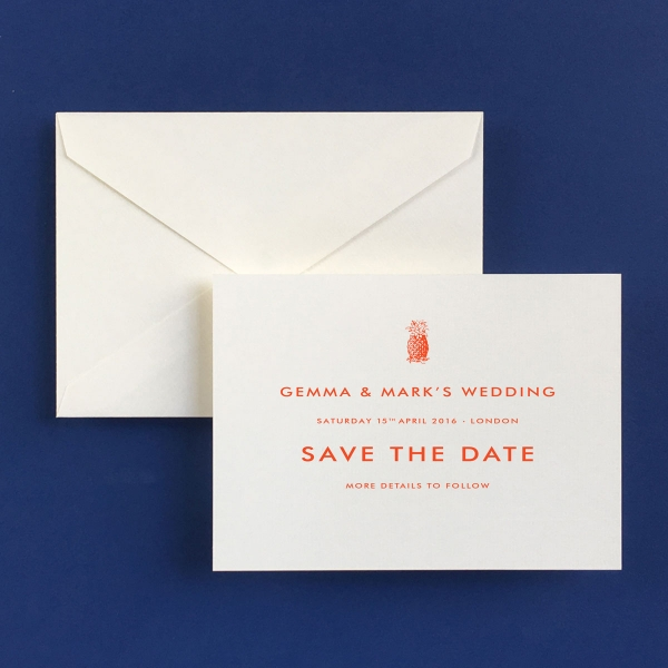 Pineapple Save the Date Cards - Wedding Stationery