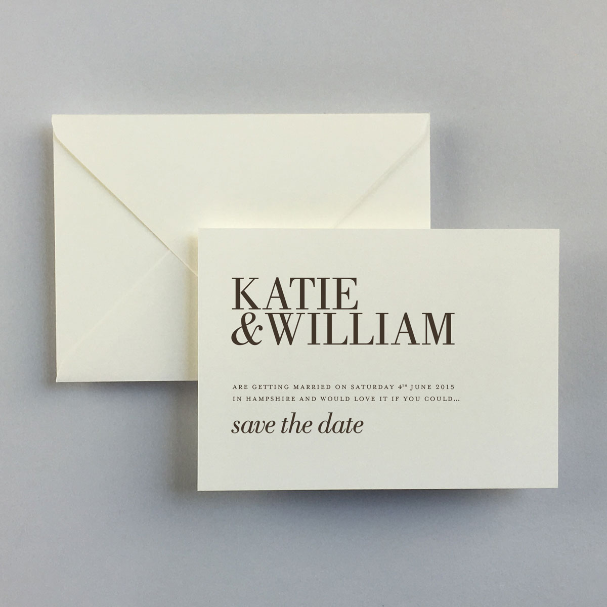 Ramsey Save The Date Cards - Wedding Stationery