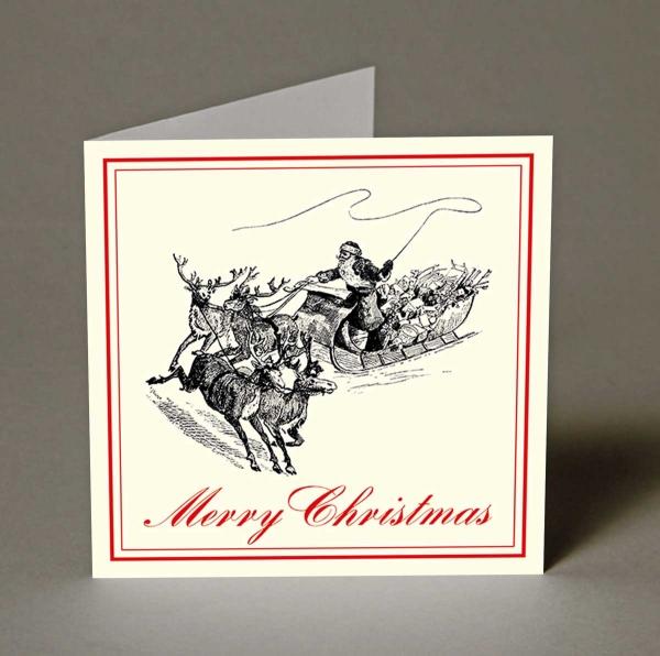 Santa's Sleigh Christmas Cards