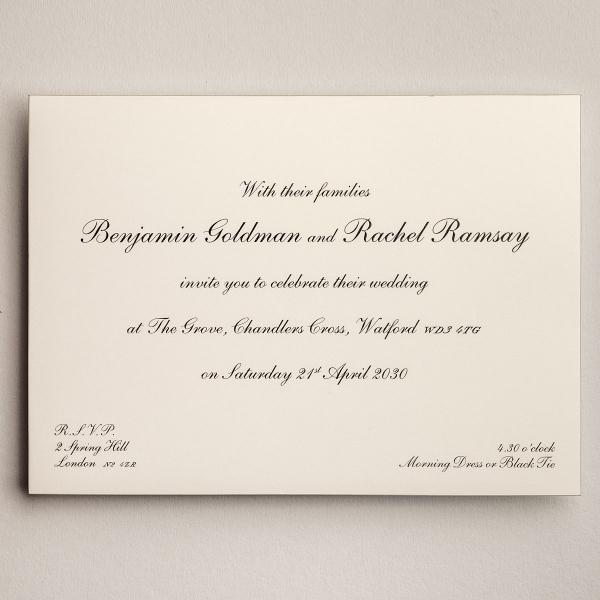 Shelley Gold Wedding Invitations