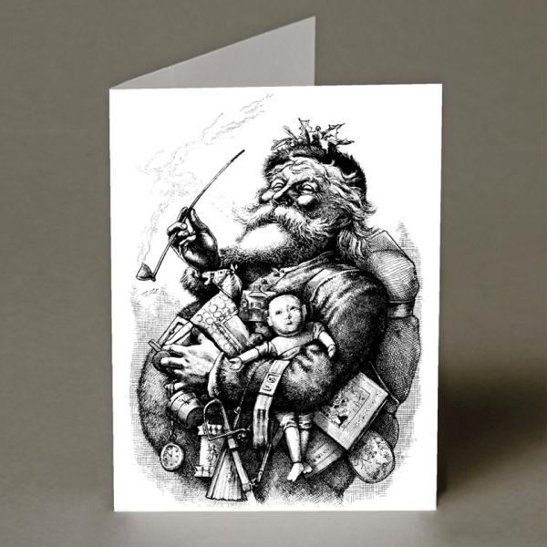 Smoking Santa Christmas Card