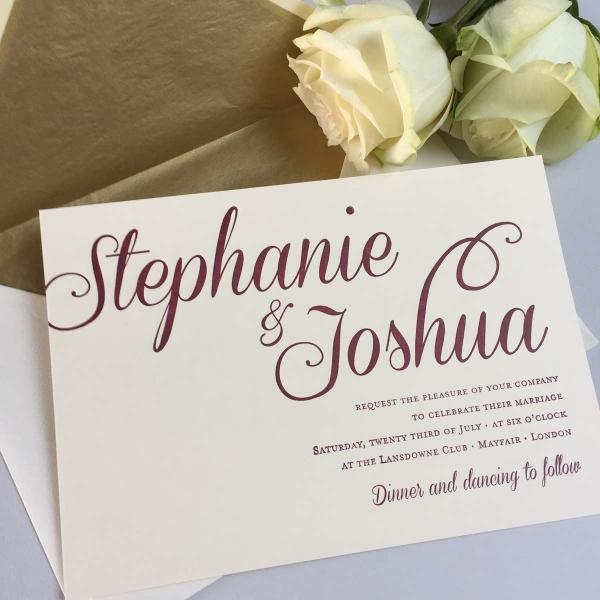 Stephanie red wedding invitations