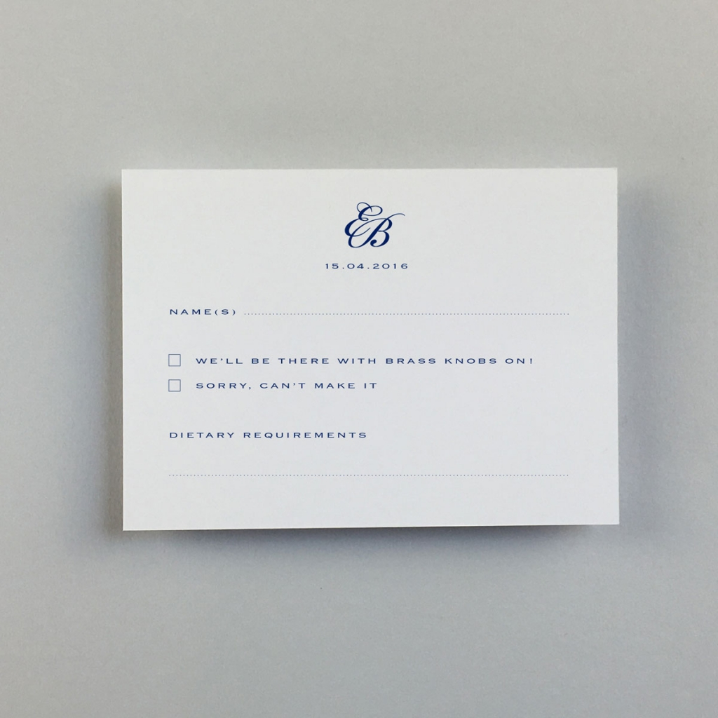 Imperial Reply Cards - Wedding Stationery   Wedding Invitations ...