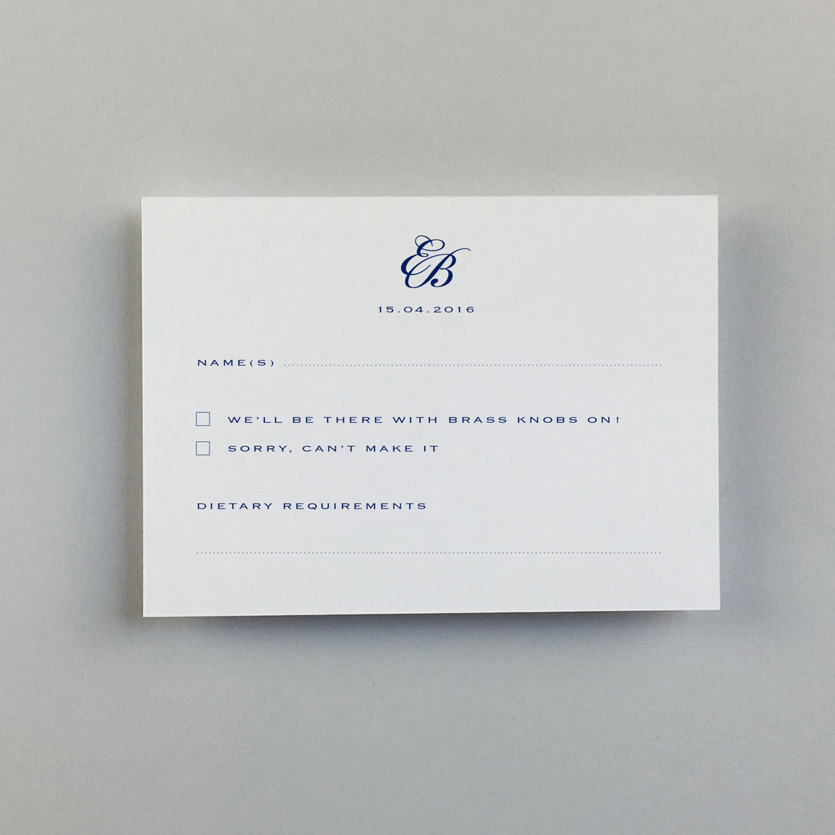 Imperial Reply Cards - Wedding Stationery
