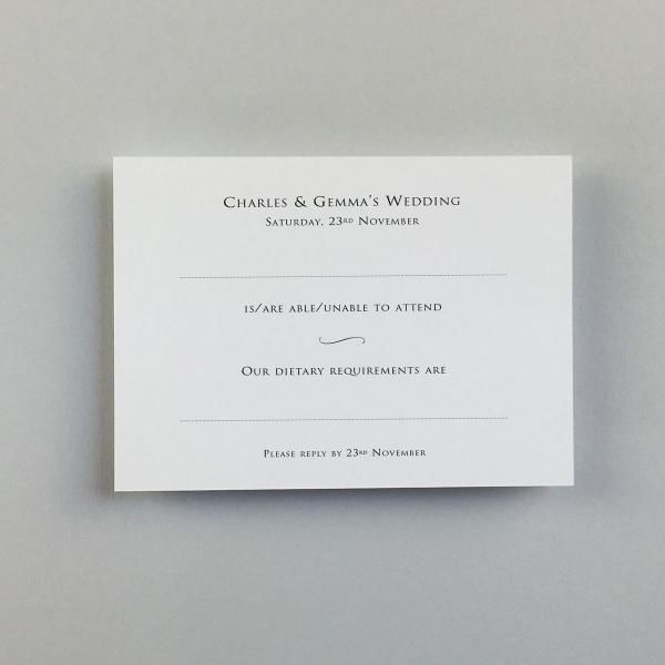 Gemma Reply Cards - Wedding Stationery
