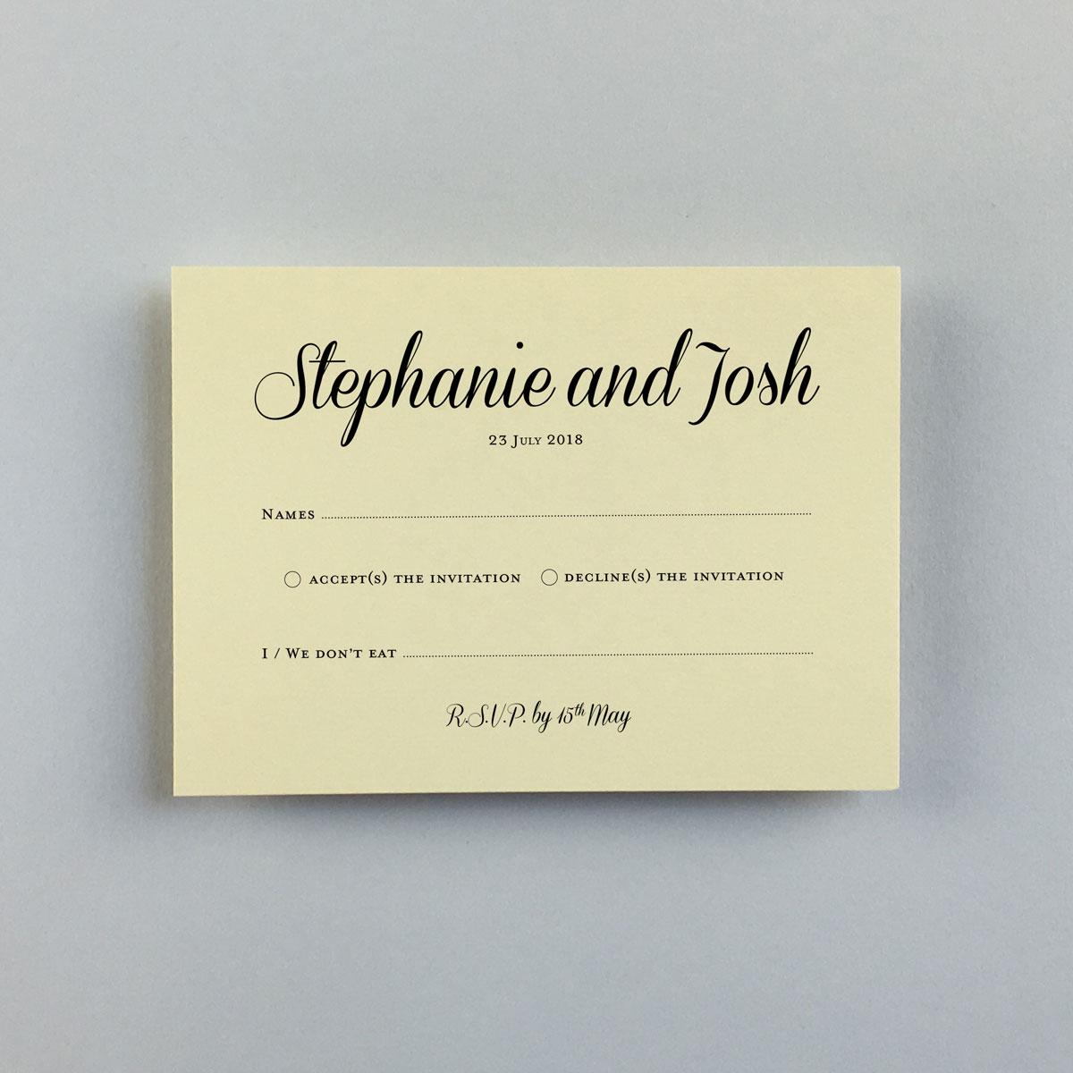 Stephanie Reply Cards - Wedding Stationery