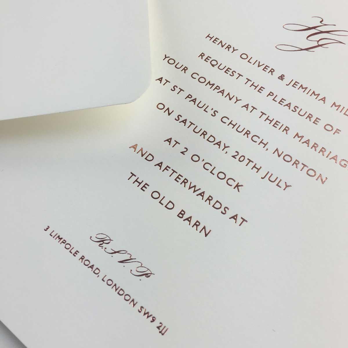 Ivory Rose Wedding Invitations