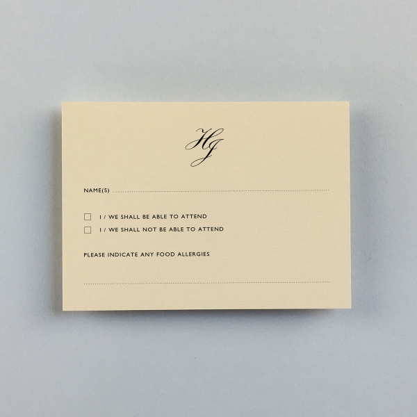 Vellum Rose Reply Cards - Wedding Stationery