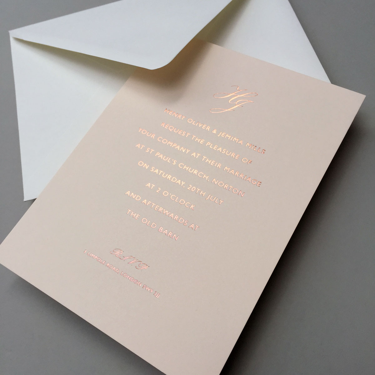 Vellum Rose Wedding Invitations