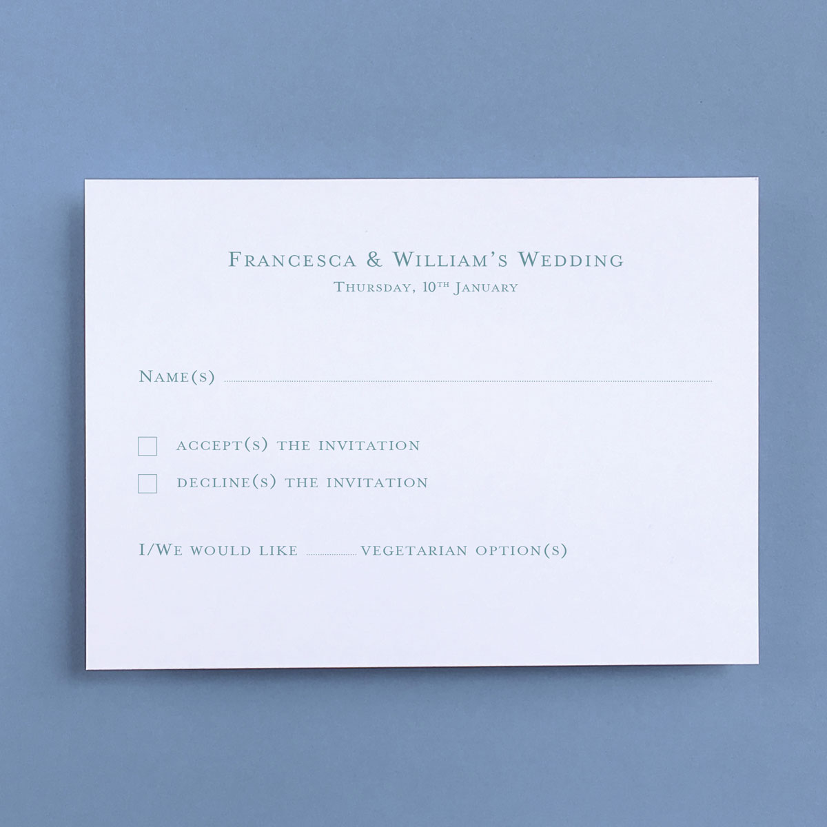 Cranbourne Reply Cards - Wedding Stationery