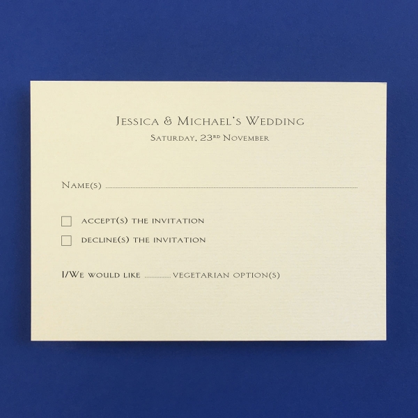 Barnes Gold Reply Cards - Wedding Stationery