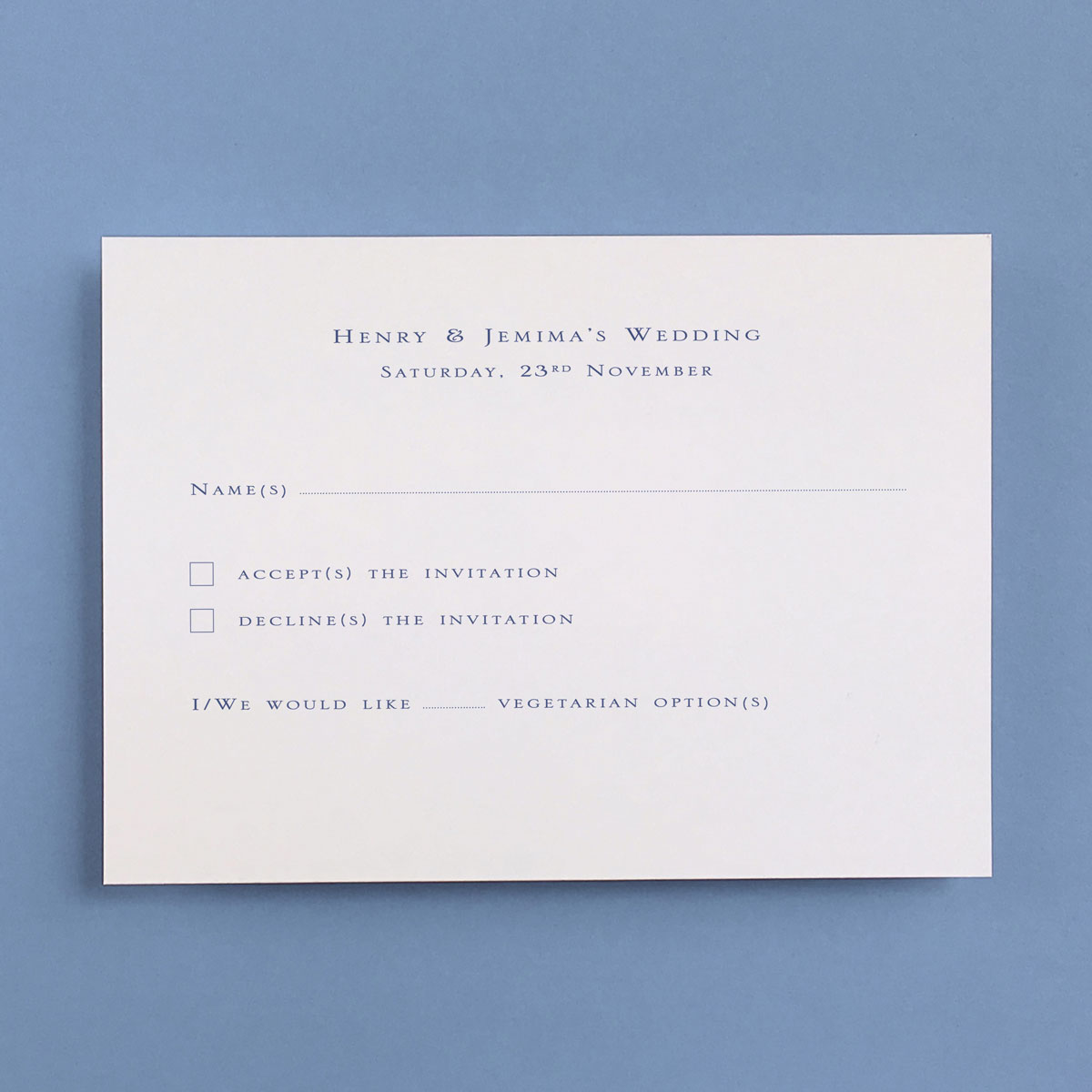 Gee Square Reply Cards - Wedding Stationery