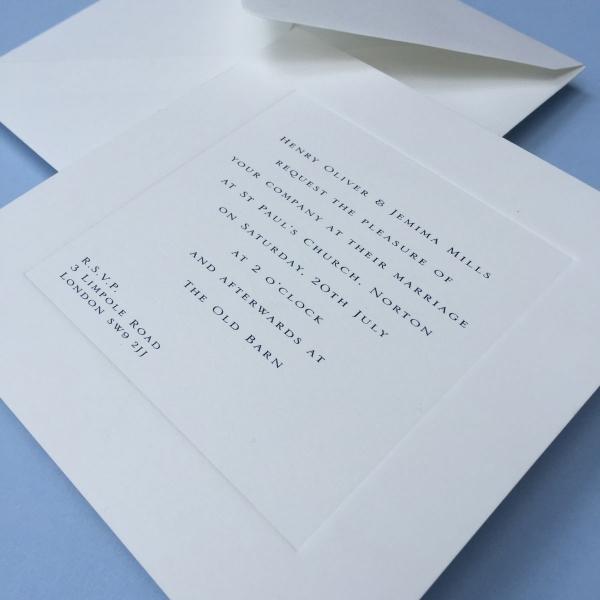 Gee Square Wedding Invitations Close-Up