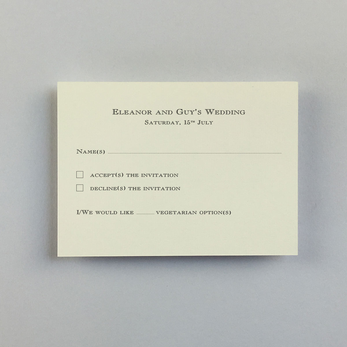 Stockbridge Reply Cards - Wedding Stationery