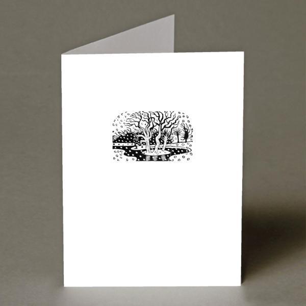 Winter Pond Christmas Card
