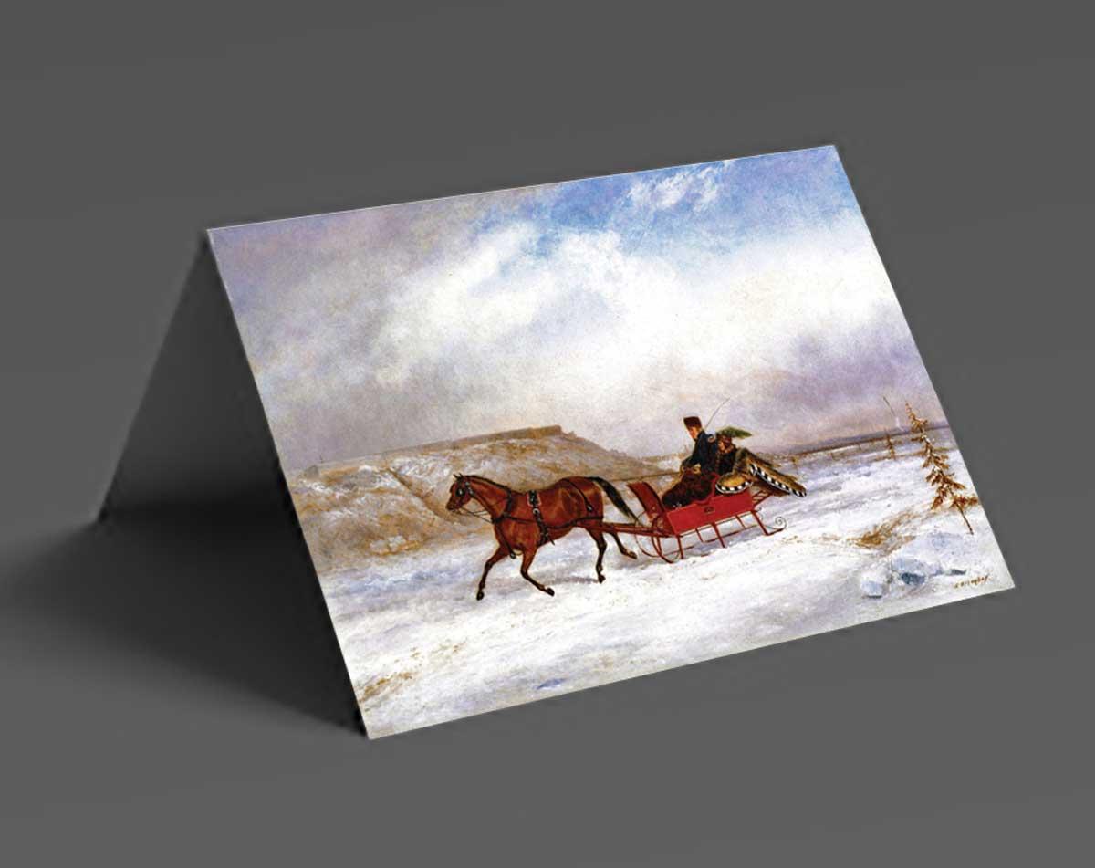 Winter Sleigh Christmas Cards