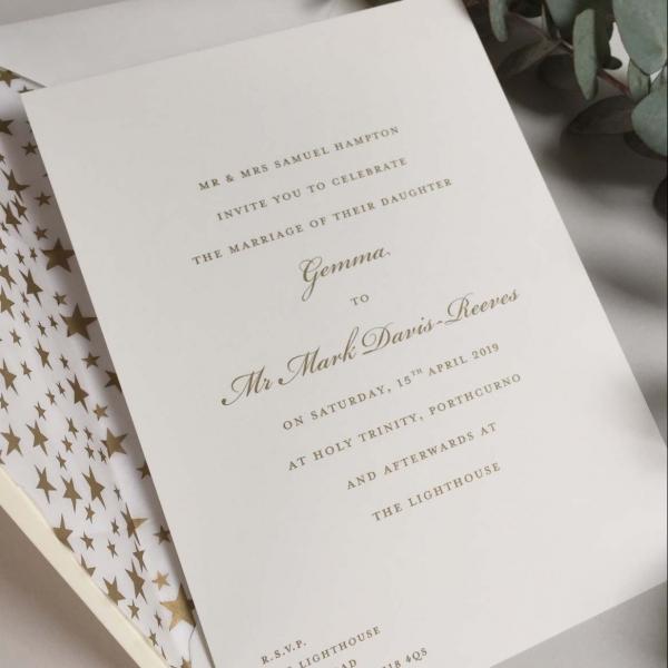 bickham gold wedding invitations