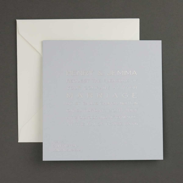 cool blue wedding invitations