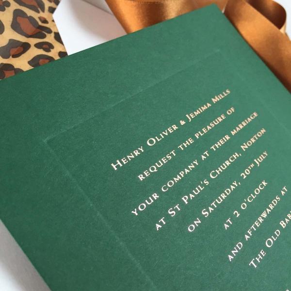 forest green wedding Invitations