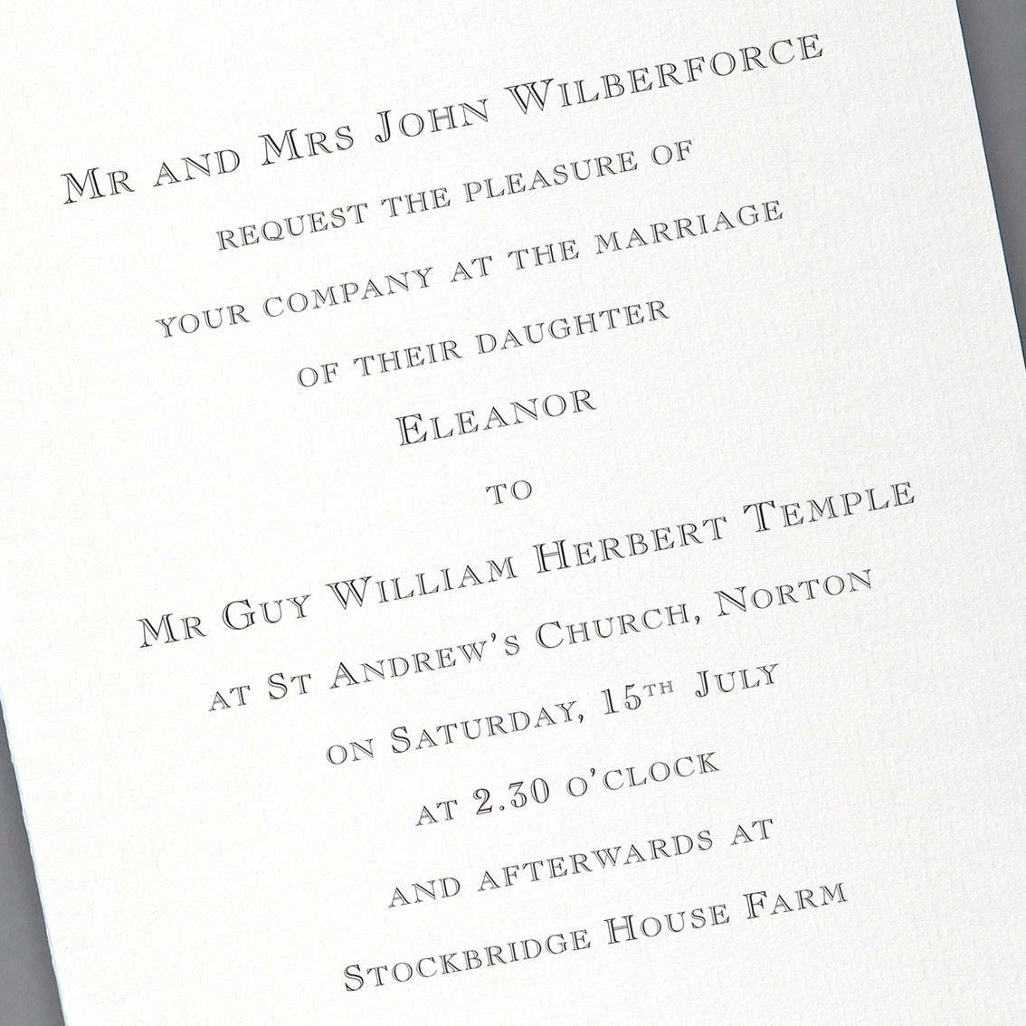Stockbridge Wedding Invitations