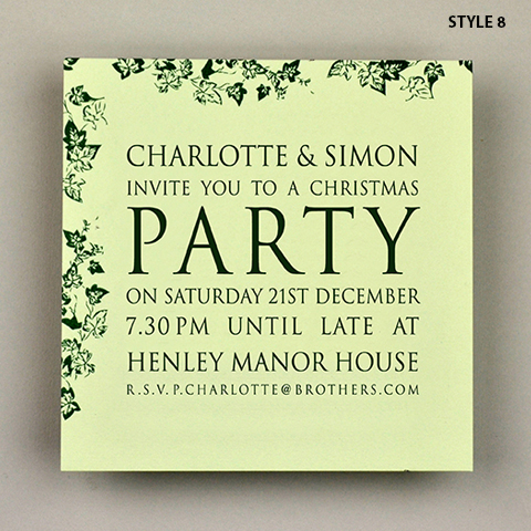 Bespoke - Christmas Party Invitations