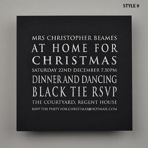 At Home For Christmas, Christmas Invitations